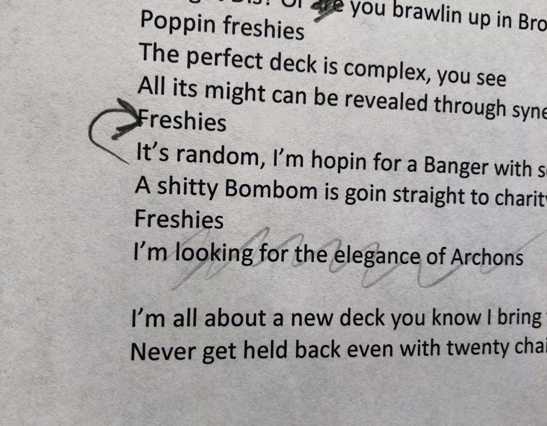 poppin freshies keyforge lyrics rap